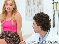 Lexi Belle visits her doctor to get a professional opinion on her tits