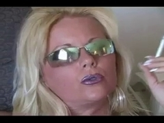 Sexy Blond mother I'd like to fuck Smokin' in Nylons and Heels