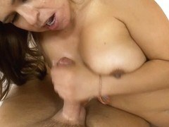 Horny milf licks a throbbing peter in sexy porn movie