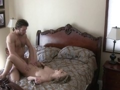Cheating Blonde Cumshot And Showering on Hidden Camera