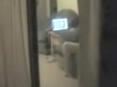 Window spy cam shoots girl masturbating before comp