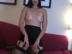 Hottest Homemade movie with Brunette, Stockings scenes