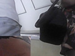 Really hot upskirt view of a pretty with her boyfriend