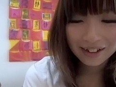 Cute Japanese Hand Blow and Footjob