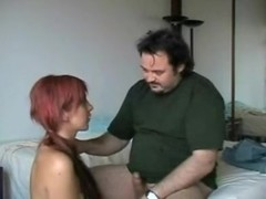 Long-haired floozy fucking her old boss