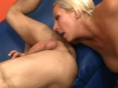 Blonde Milf Tosses Studs Salad