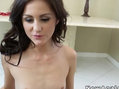 Flat chested girlfriend anal fucks