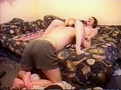 Tongue and dick in pussy