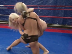 Nicky naked babe kissing her sexy opponent