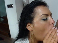 Big natural Latina tits get fucked and cum...
