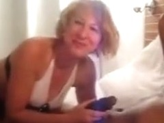 Excited Blond White Wife Cleans Up Dark Cum from Ally
