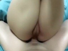 Firstly in ass then cumming on her belly