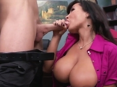 Johnny Sins is obsessed with big boobs of Lisa Ann