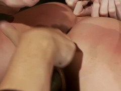 Hot blond with big tits, pony tails, and braces.Face fucked, hogtied & made to cum like a whore.