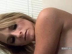 Sexually Excited golden-haired Melanie Masters receives her bawdy cleft screwed