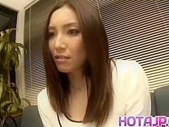 Nozomi Mashiro Asian doll gets pussy spread and masturbated in close up