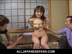 Legal Age Teenager is fastened up and used as a fuck machine as her body is to