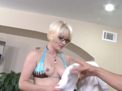 Nora Skyy enjoys a good day at work sucking and fucking