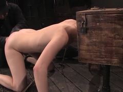 Calico College co-ed boxed, fucked and made to cum.