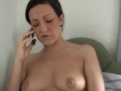 Fuckable brunette with nice jugs in hot down blouse video