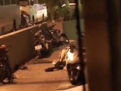 Taiwanese old man fuck hooker on the street