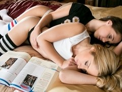 Jenna Sativa & Goldie in Late Night Study Date Video