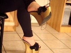 extreme gold wedges sexy heels sexy tacones