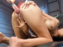 Horny fetish sex clip with crazy pornstar Beretta James from Fuckingmachines