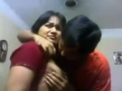 Indian Bhabi n Devar At Home Giving A Kiss & titties engulf