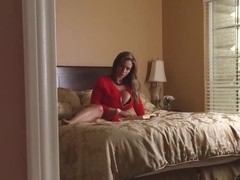 Eva Notty does her stepmom duty to teach Janice how to fuck