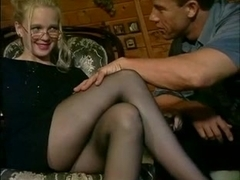 Girls in Nylon Pantyhose Stockings gets fucked