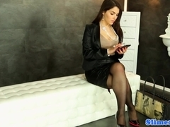 Valentina Nappi gets WAM with bukkake cum