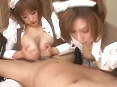 Incredible Japanese chick Chisa Hoshijima, Hikari Kirishima, Aika Kaduki in Horny Fetish, Blowjob/.