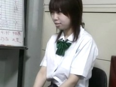 Japanese teen was naughty, so the policeman fucked her