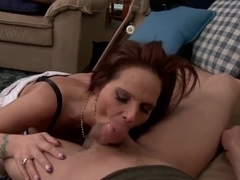 Syren De Mer gives amazing blowjob to Xander Corvus