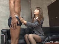 Pretty and horny chick Sumire office girl sex action here