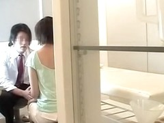 Kinky tit massage ends up with japanese hard drilling
