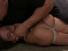 Crazy latina, fetish adult movie with exotic pornstars Penny Barber and Derrick Pierce from Dungeo.