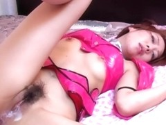 Nasty and fetish redhead porn star in latex bending over and get shagged from behind deep and hard