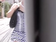Street sharking of an adorable Japanese gal in a short skirt