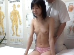 Heavy fingering for a Jap gal in erotic voyeur massage video