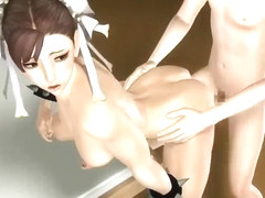 Animated movie of Chun-Li getting wrecked by a big hard cock