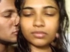 North indian beauty sucks her bf and receive it