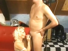 European couple putting on a hardcore show
