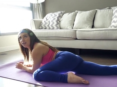 CFNMTeens - Hot Brunette Fucked In Yoga Pants
