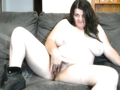Chubby hairy big tits spreading pussy and ass
