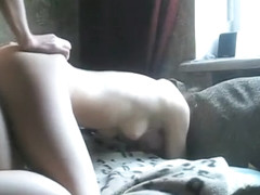 Sexy Girlfriend Gets an Ass Cumshot