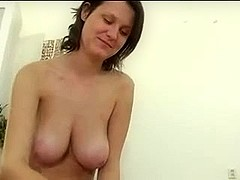 Cute Honey Uses Her Huge Mangos In A Enjoyable Tit Job