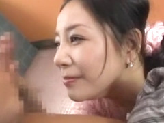Horny Japanese chick Aya Asakura in Fabulous MILF, Blowjob JAV movie