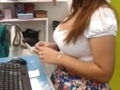 Candid Cleavage Busty Boutique Beauty